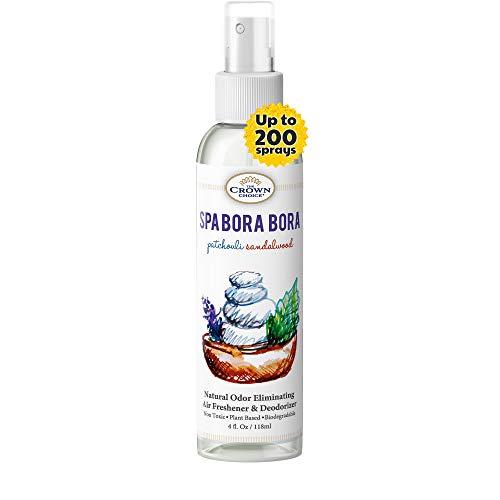 Natural Spray Air Refreshener Uses Patchouli Sandalwood Essential Oils (SPA Bora Bora 1PK)   NO Phthalate, Fragrance, Chemicals   Sprayer to Refresh Deodorize Room, Home, Bathroom, Toilet