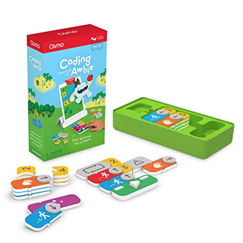 Osmo - Coding Awbie - Ages 5-12 - Coding & Problem Solving - STEM Toy - For iPad or Fire Tablet (Osmo Base Required)
