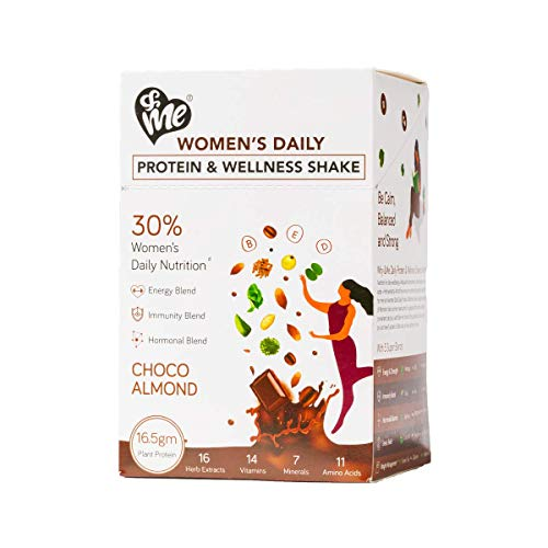 & ME Plant Based Protein Powder for Women With 45 Natural Herbs, Multivitamins and Amino Acids Plant based, Whey Free, Soy Free, Chocolate Almond Flavor (Pack of 1)
