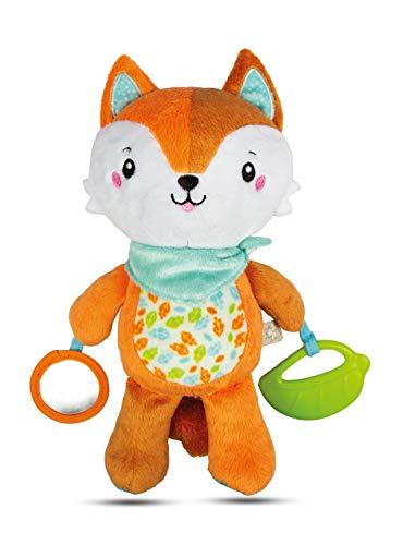 Clementoni For You - Happy Fox Peluche neonato, 0 mesi+, Multicolore, 17271