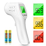 U-Kiss Thermomètre Frontal Infrarouge, Thermomètre Numérique Infrarouge avec Affichage LCD...