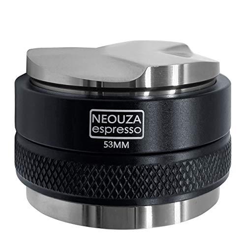 Neouza Siebträger-Verteiler 53mm für Espresso-Kaffee, ohne Boden, Doppelkopf für 54 mm Breville 870/875/878/880, Edelstahl Tamper&Distributo