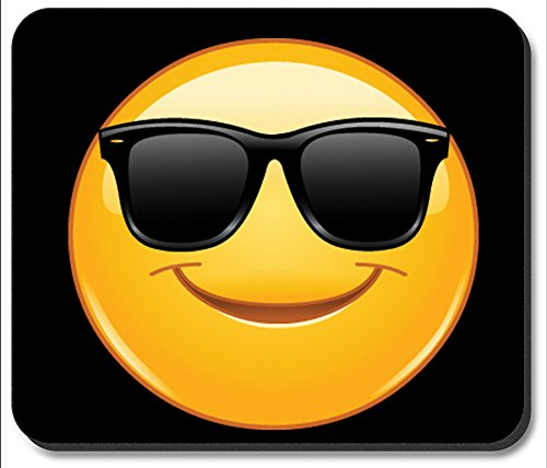 Art Plates Brand Mouse Pad - Sun Glasses Emoji
