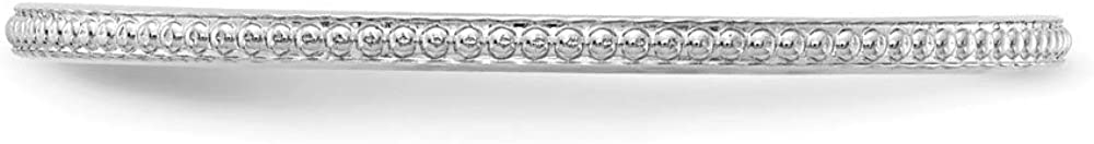 10k White Gold 1.2mm Bead Stackable Wedding Ring Band Fancy/Fine Jewelry For Women Gifts For Her