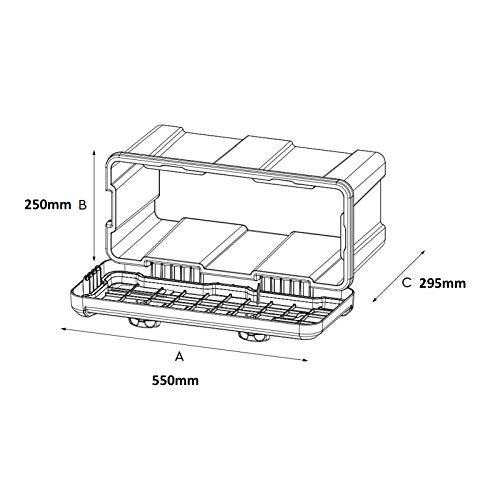 DAKEN Deichselbox Blackit 2-550x250x295mm Anhängerbox Werkzeugkasten Anhänger Staukiste Werkzeugkiste Box 23L - 2