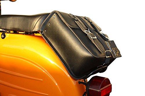 LEDER Hecktasche GepäckträgerTasche in schwarz für SIMSON Vögel: Schwalbe Sperber Star Spatz KR50 KR51 SR4