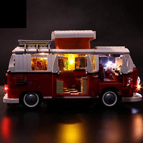 XW Luz De Bloque De Construcción LED para El Modelo De Camper Volkswagen - Kit De Luz USB Compatible con Lego 10220 - No Incluye Modelo Lego