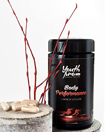 BODY PERFORMANCE  Integratore Naturale Migliora Massa Muscolare e Riduce Stress Fisico  Energizzante e per l'Umore