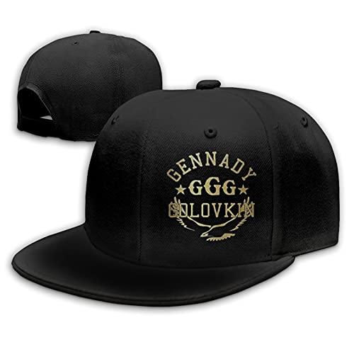 Gennady Golovkin Gorras de béisbol Unisex Flat Bill Sombreros para el Sol Ajustables Sombrero de Hip Hop Baseball Caps