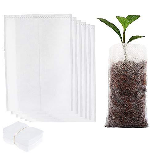 500 piezas biodegradables bolsas de vivero no tejidas degradables bolsas de cultivo...