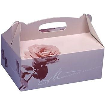 Bo/îte De Cadeau De G/âteau De Nourriture De Sucrerie G/én/érique 10 Bo/îtes De Cadeau De G/âteau De Papier De Rose De Rose Bo/îte De F/ête De Mariage De Fen/être Pliable