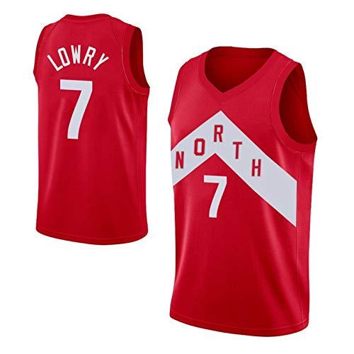 WLXA Camiseta De Kyle Lowry para Hombre, Uniforme De Baloncesto De Los Raptors De Toronto # 7 Camiseta De Malla Informal Sin Mangas Y Transpirable Camiseta Basketball Swi Red-XXL
