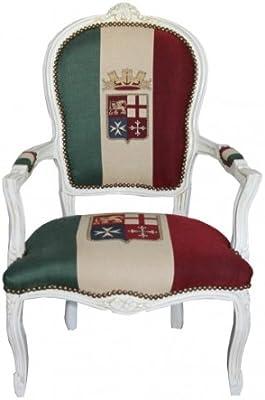 Biscottini sillón Estilo Francés Luis XVI de Madera Maciza de Haya ...
