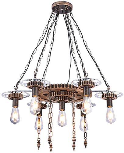 Vintage plafondlamp moderne retro zwart industrieel metaal E27 creatieve hanger lamp 7 armen voor slaapkamer woonkamer dineren kamer studiekamer hotel