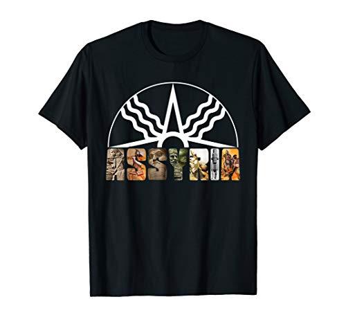 Assyria Land Assyrian Flag Assyrian Winged Bull Lamassu T-Shirt
