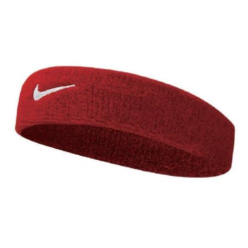 Nike Swoosh Head Bands Fascia, Unisex, Swoosh Headbands, Varsity Rosso/Bianco, Taglia Unica