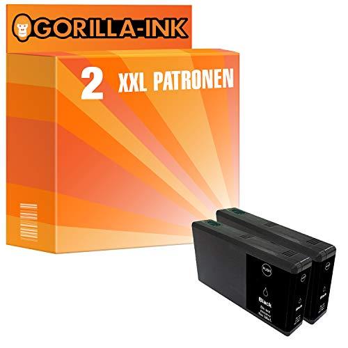 Gorilla-Ink 2 Cartucce d'inchiostro XXL compatibile con Epson T7901 79XL 79 XL Black| Per WorkForce Pro WF-5110 WF-5190 DW WF-5620 WF-5690 DWF WF-5110DW WF-5190DW WF-5620DWF WF-5690DWF