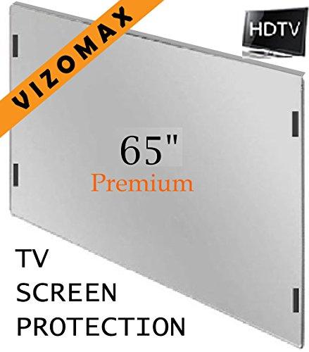 63-65 pulgadas Vizomax protector de pantalla de la televisor LCD LED Plasma HDTV. TV Screen Protector Cover Guard Shield