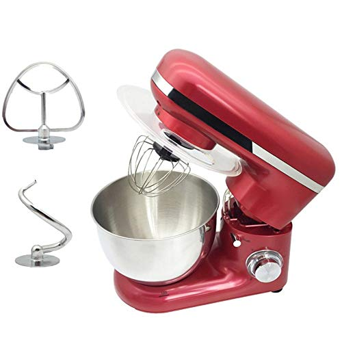 BJQ 4L ステンレス 鋼 丼鉢 6速 キッチン 食物 スタンド ミキサー クリーム 卵 はたくこと ブレンダー ケーキ 生地 パン ミキサー メーカ 機械 a/赤/示されるように