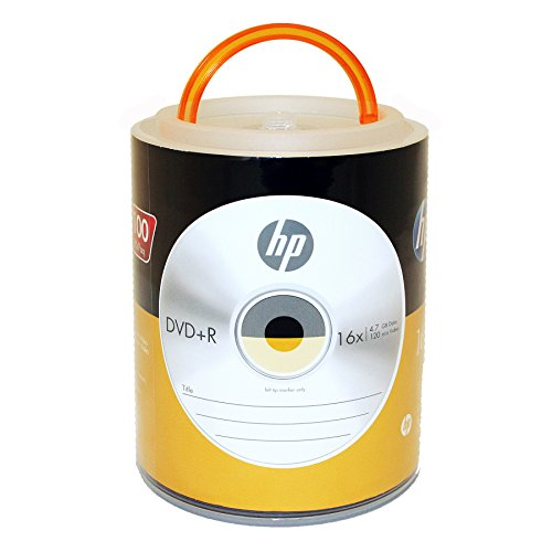 HP DVD+R 16X 4.7GB 100PK Spindle with Handle