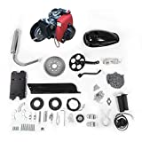 53cc 4 Stroke Bicycle Engine Kit Motorized Bike Gas Petrol 4 Stroke Motor Kit Bike Engine Scooter Parts for 26' or 28' Bikes (Ship from US) (Black)