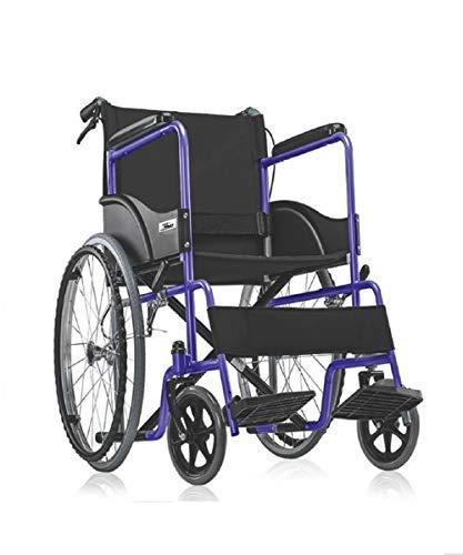 Medequip Healthcare Folding Metal Steel Wheelchair with Dual Break and Seat Belt