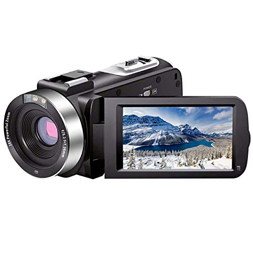 Video Camera Camcorder Full HD 1080P 30FPS 24.0 MP IR Night Vision Vlogging...