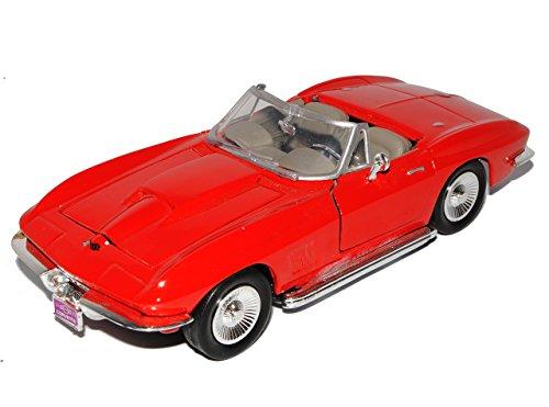 Motormax Chevrolet Chevy Corvette C2 Cabrio Rot Offen 1962-1967 Oldtimer 1/24 Modell Auto