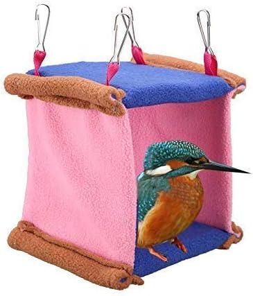 Balacoo Pappagallo Amaca Invernale Appeso Uccello Caldo casa Uccello Tunnel Letto Appeso Gabbia Calda per Piccoli Animali Domestici