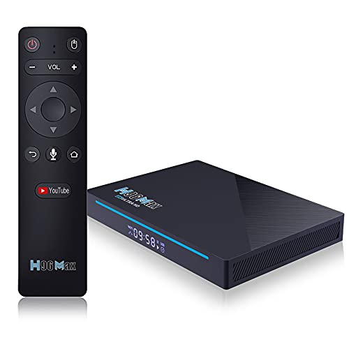 Box TV Android 11.0, 2021 Set Top Box più Recente H96 Max RK3566 Quad Core 8 GB RAM 64 GB Rom Streaming Media Player con WiFi 2.4G   5.8GHZ con Smart TV Box HD AC & BT 4.0 8K,8gb+64gb