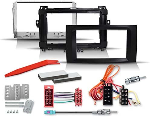 2 Din Installation Kit With Radio Panel Quadlock Radio Elektronik