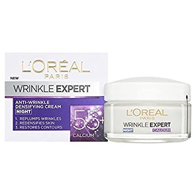 L'Oreal Paris Anti Wrinkle Cream, Wrinkle Expert 55+ Night Cream