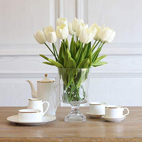 inforwarm Kunstblumen Kunstpflanzen Plastikblumen 12Pcs Dekoration Pu Große Tulpentisch Blumendekoration
