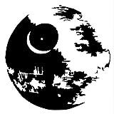 Vinilo Adhesivo De Pared Calcomanía De Habitación Ciencia Ficción, Blanco Y Negro Estrella De La Muerte 57 * 57Cm