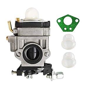 Poweka - Carburador para desbrozadora multifunción 5 en 1, 43 cc, 47 cc, 49 cc, 50 cc, 52 cc, con bombilla de imprimación + junta