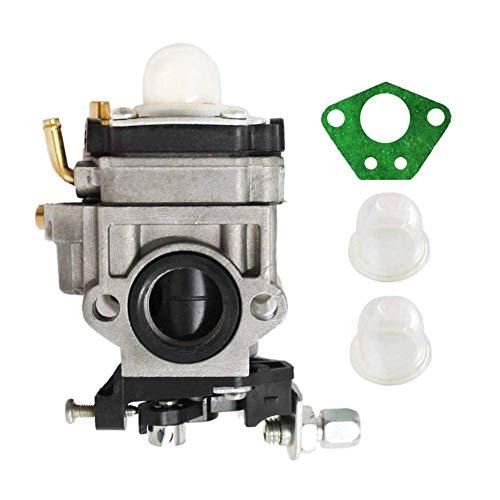 Poweka Carburador para desbrozadora multifunción 5 en 1 43 cc 47 cc 49 cc 50 cc 52 cc con bombilla de imprimación + junta