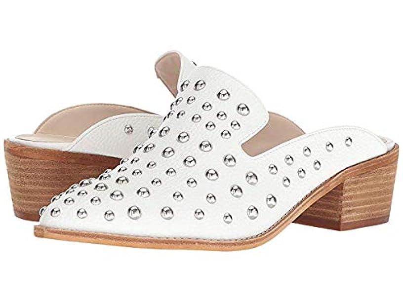 コンサート船乗りマトンレディースローファー?靴 Mollie Mule White Tumble PU US 8 M [並行輸入品]