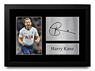 HWC Trading FR Harry Kane Gifts Signed A4 Printed Autograph Tottenham Hotspur Spurs Gift Framed Prin...
