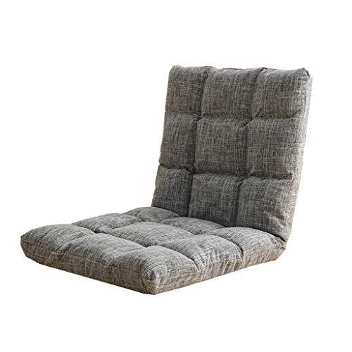 Grote tv-stoel, gevoerd, ergonomisch, met verstelbare rugleuning, lage klapstoel, ideaal voor binnen, vloer, ramen, lezen, games, 100 x 50 x