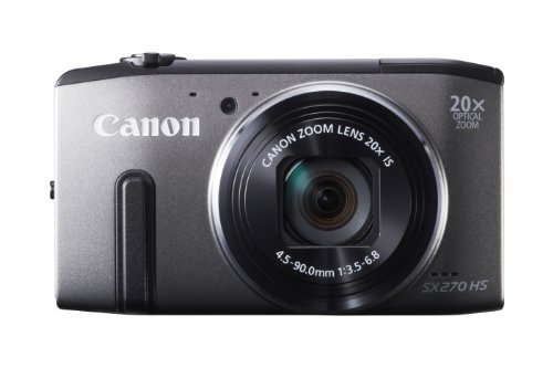 Canon PowerShot SX 270 HS Digitalkamera (12 MP, 20-Fach Opt. Zoom, 7,6cm (3 Zoll) LCD-Display, bildstabilisiert) grau