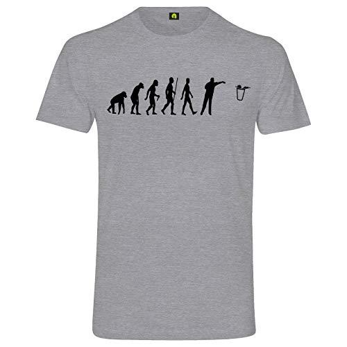 Evolution Bier Pong T-Shirt | Bierpong | Beer | Beerpong | Party | Alkohol Grau Meliert L