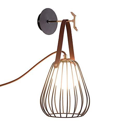 Eisen-Wandlampen mit Stecker, postmoderne LED-Bügelglasbeleuchtung dekorative Hängelampe Wandleuchte Nordic Living Room Cafe Esstisch Wandlampen