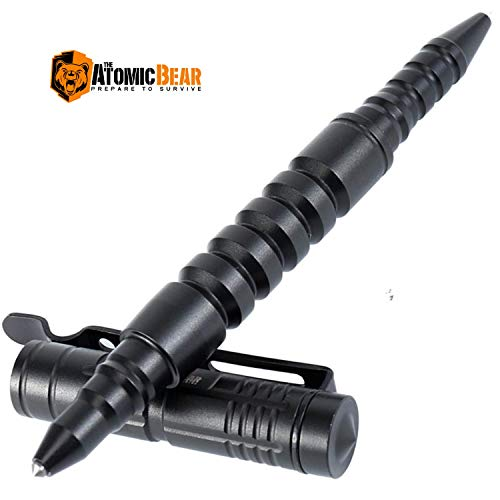 The Atomic Bear Tactical Pen - Self Defense Pen and Window Breaker - Used in Police and Military Gear - Best Defense Ballpoint Pens with Free Pouch...