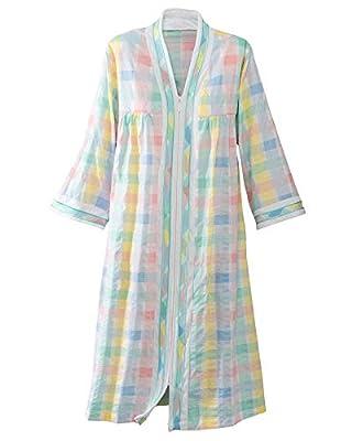 National Women's Plisse Robe, Multi, Short
