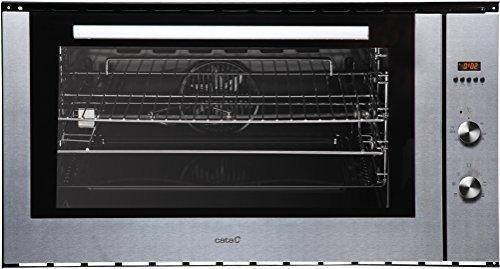 Cata - Horno eléctrico de acero inoxidable (97 L, con pincho giratorio, 8 funciones, horno con aire caliente, parrilla, gran superficie)