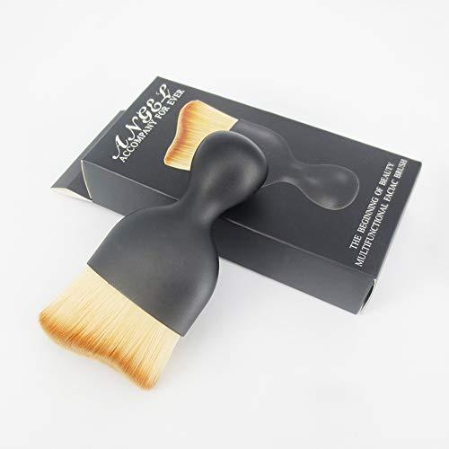 Simple Pinceau De Maquillage Professionnel Contour Des Cheveux Bicolore Brosse Brosse Fond De Teint Outil De Maquillage 1,77 * 3,74 * 0,79 Pouces (Noir),Cato