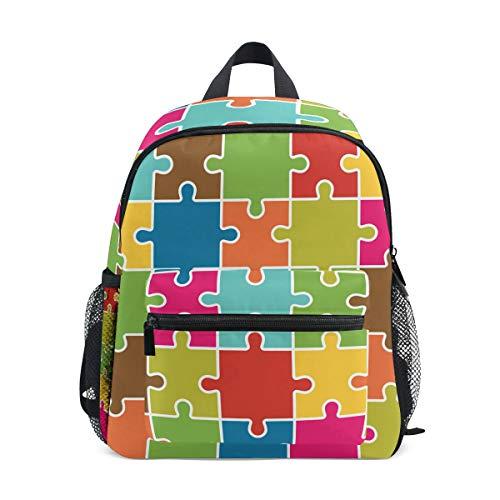 BALII Jigsaw Puzzle Piezas Fondo Toddler Mochila Libro Bolsa Escuela Mochila para Chica Niño Niños
