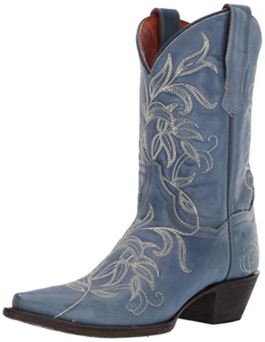 Dan Post Boots Women's Nora Western Boot, Blue, 6.5 M US