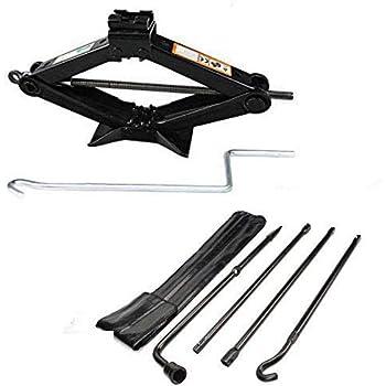 Autofu 2 Ton Scissor Floor Jack with Crank Tool Lift for Car//Ford//Dodge//Chevy//Tools Tire Repair Tool Kits