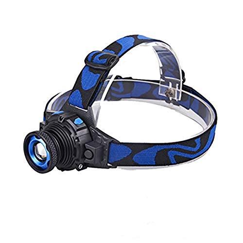 Linterna Frontal Potente luz LED Linterna Linterna recargable Batería Frontal de la luz Q5 Lámpara de cabeza de la lámpara de la cabeza de zoomable para la pesca Camping ( Emitting Color : Package B )